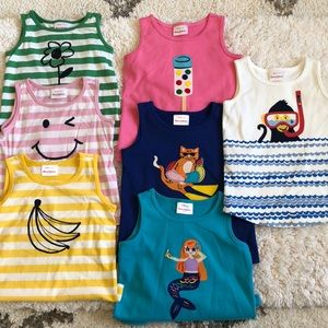 Bundle of 7 Hanna Andersson tanks 110